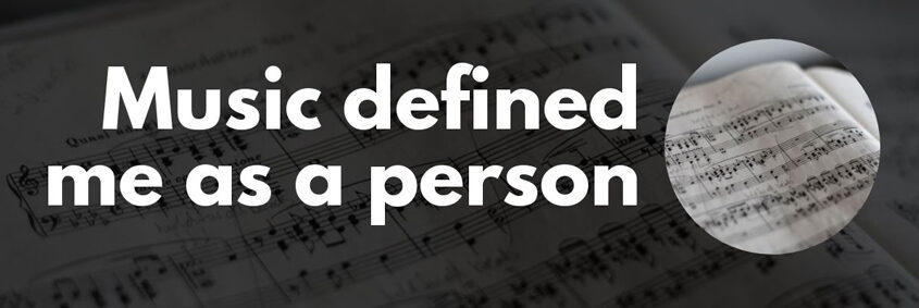 Music defined me as a person with dyslexia
